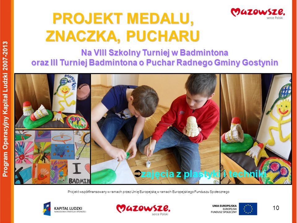 10 Projekt współfinansowany w ramach przez Unię Europejską w ramach Europejskiego Funduszu Społecznego Program Operacyjny Kapitał Ludzki 2007-2013 PRO