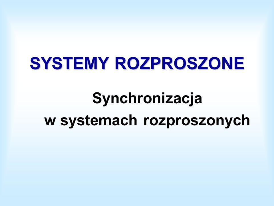 SYSTEMY ROZPROSZONE Synchronizacja w systemach rozproszonych