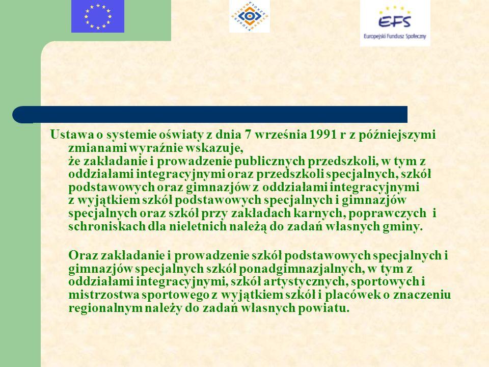 Ustawa o systemie oświaty z dnia 7 września 1991 r z późniejszymi zmianami wyraźnie wskazuje, że zakładanie i prowadzenie publicznych przedszkoli, w t
