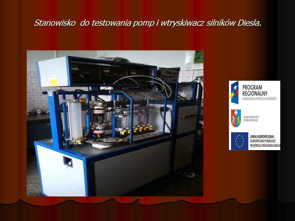 Stanowisko do testowania pomp i wtryskiwacz silników Diesla.