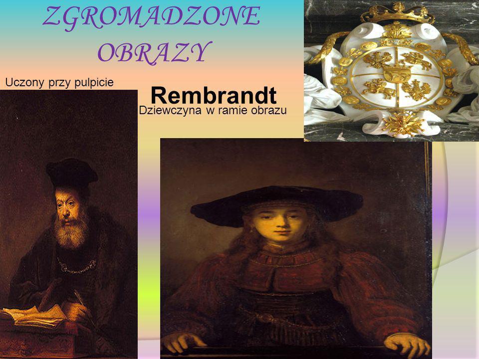 ZGROMADZONE OBRAZY Uczony przy pulpicie Dziewczyna w ramie obrazu Rembrandt