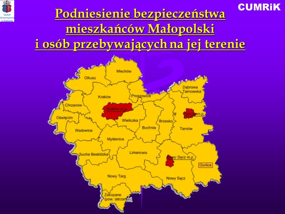 CUMRiK Podniesienie bezpieczeństwa mieszkańców Małopolski i osób przebywających na jej terenie