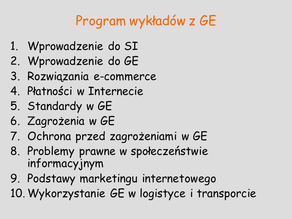 Literatura do wykładu B.Gregor, M.