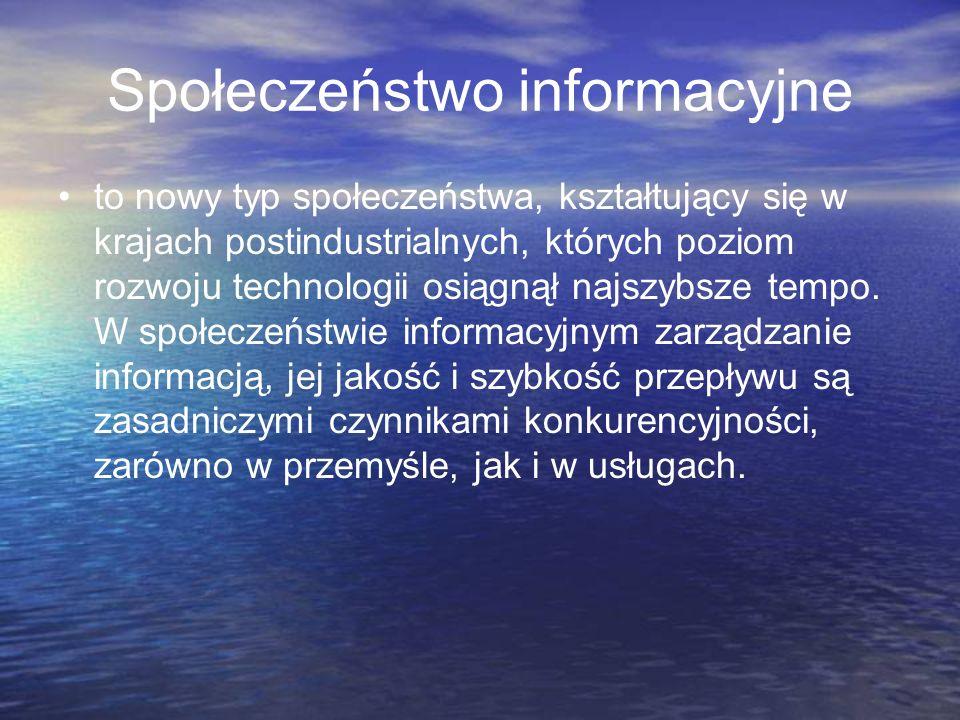 Społeczeństwo Informacyjne to między innymi: Tańsza i sprawniejsza administracja pozwalająca na aktywny udział obywateli w procesie rządzenia i głosowania.