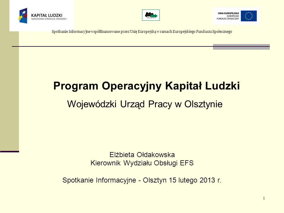 Plan prezentacji Kontraktacja i wydatkowanie środków; Efekty wdrażania PO KL w regionie – działania WUP Konkursy 2013r.