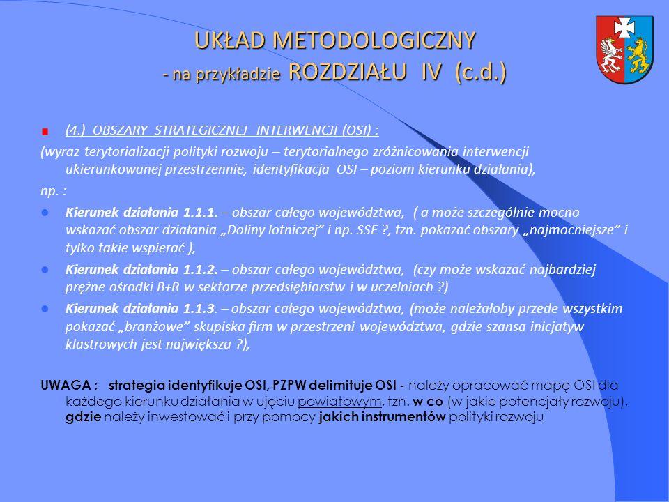 (4.) OBSZARY STRATEGICZNEJ INTERWENCJI (OSI) : (wyraz terytorializacji polityki rozwoju – terytorialnego zróżnicowania interwencji ukierunkowanej prze