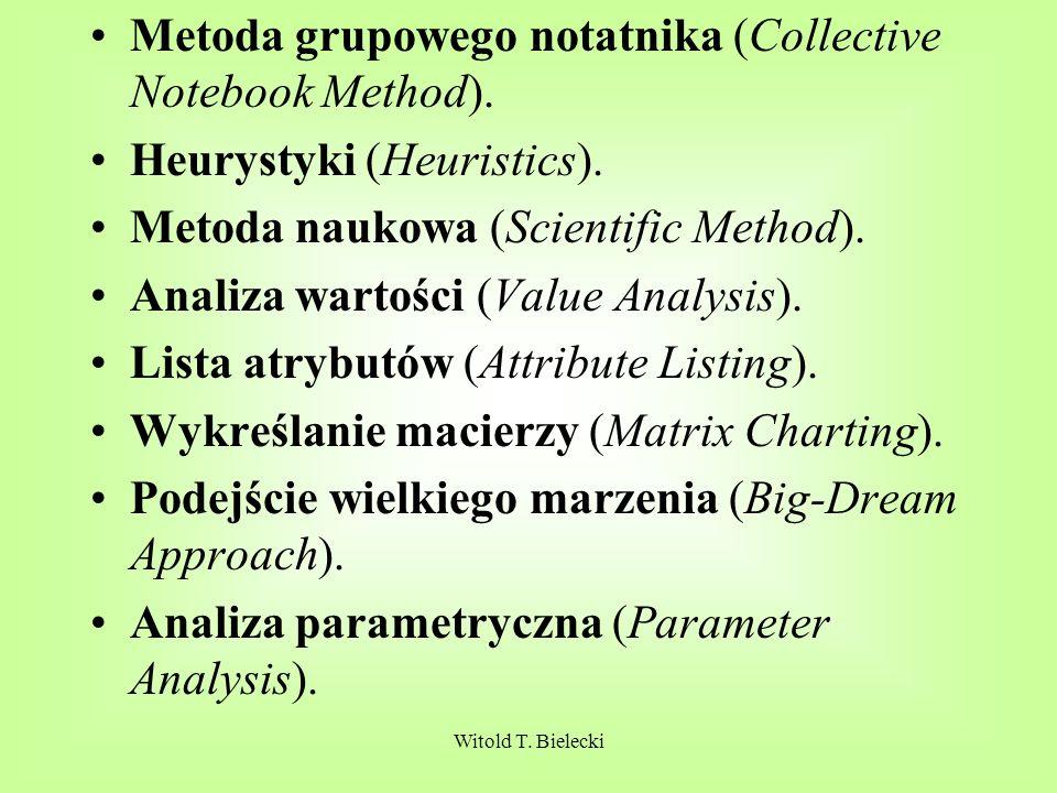 Witold T.Bielecki Metoda grupowego notatnika (Collective Notebook Method).