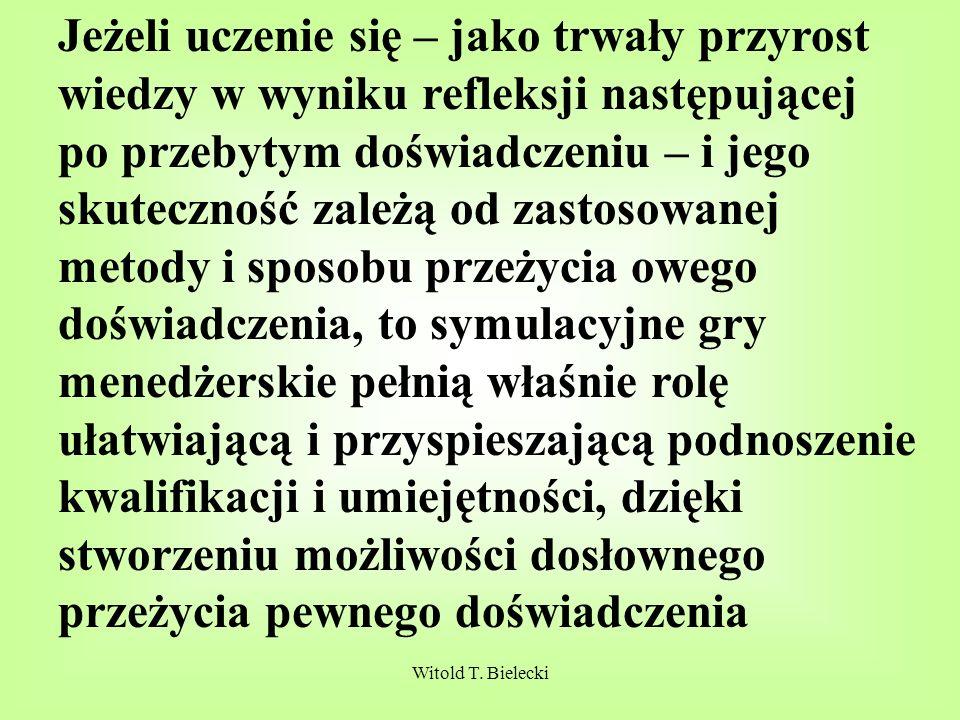 Witold T.Bielecki Wykłady najlepiej uczą umiejętności słuchania refleksyjnego (krytycznego).