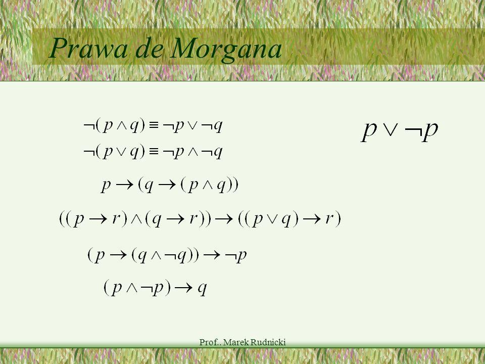 Prof.. Marek Rudnicki Prawa de Morgana