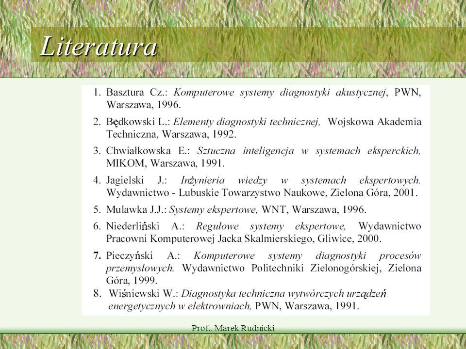 Prof.. Marek Rudnicki Literatura