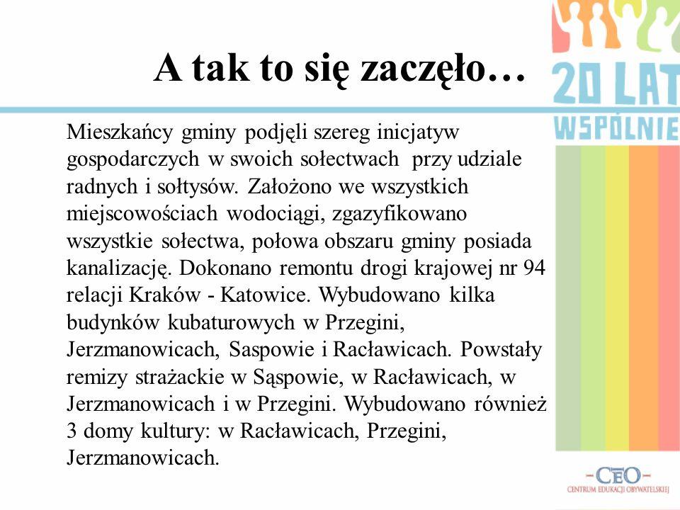 A tak to się zaczęło… Mieszkańcy gminy podjęli szereg inicjatyw gospodarczych w swoich sołectwach przy udziale radnych i sołtysów. Założono we wszystk