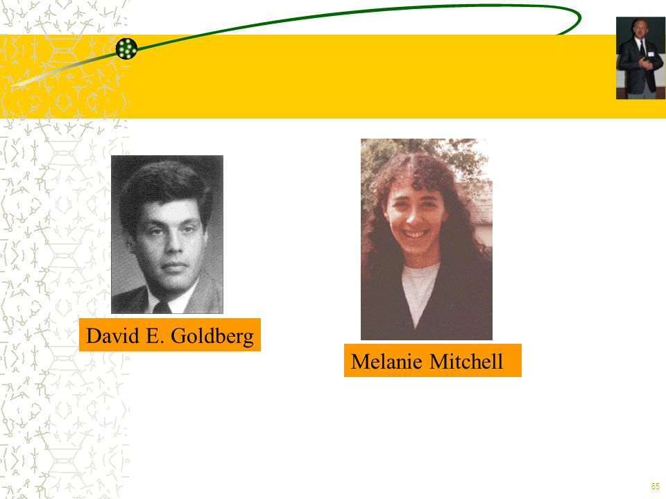 65 David E. Goldberg Melanie Mitchell