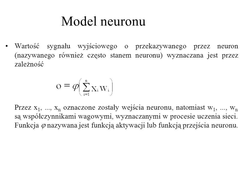 Sieci neuronowe należą więc do kategorii systemów uczących się.