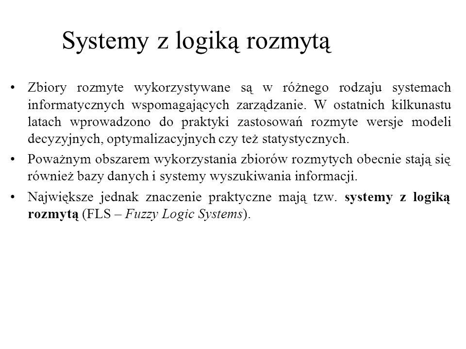 Systemy z logiką rozmytą, zaliczyć możemy ogólnie rzecz biorąc do systemów ekspertowych.