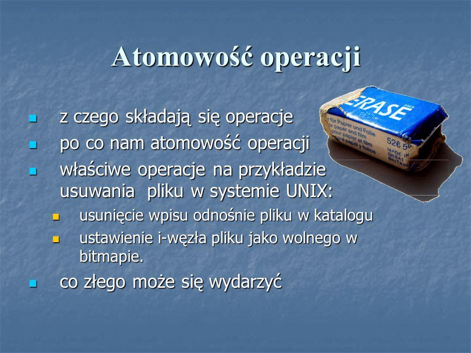 Atomowość operacji z czego składają się operacje z czego składają się operacje po co nam atomowość operacji po co nam atomowość operacji właściwe oper