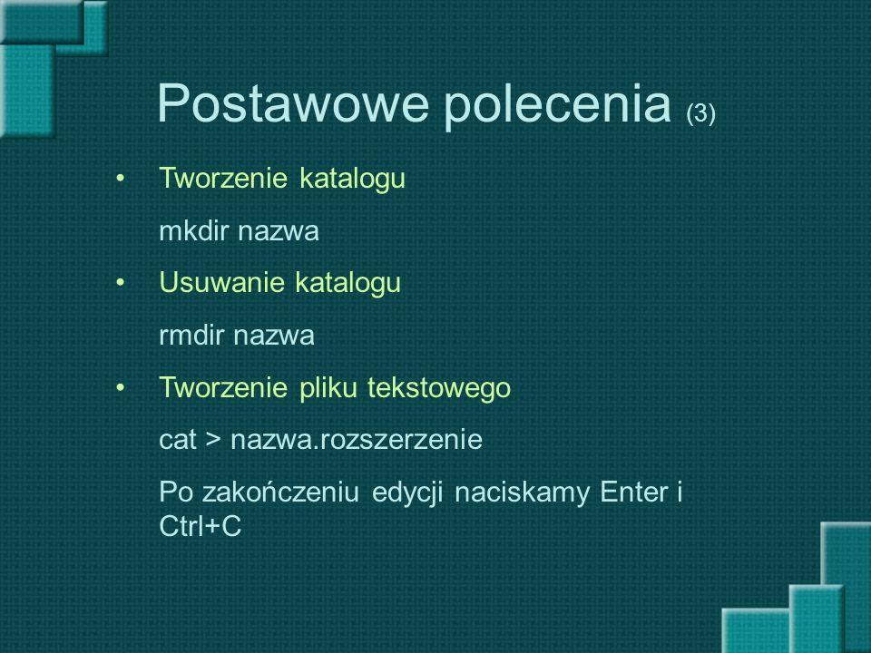 Ćwiczenia (7) 1.Wejść za pomocą lynxa na stronę wojtek.wsi.edu.pl na zakładkę zajęcia i ściągnąć plik SO-LAB2 w wersji PPT.