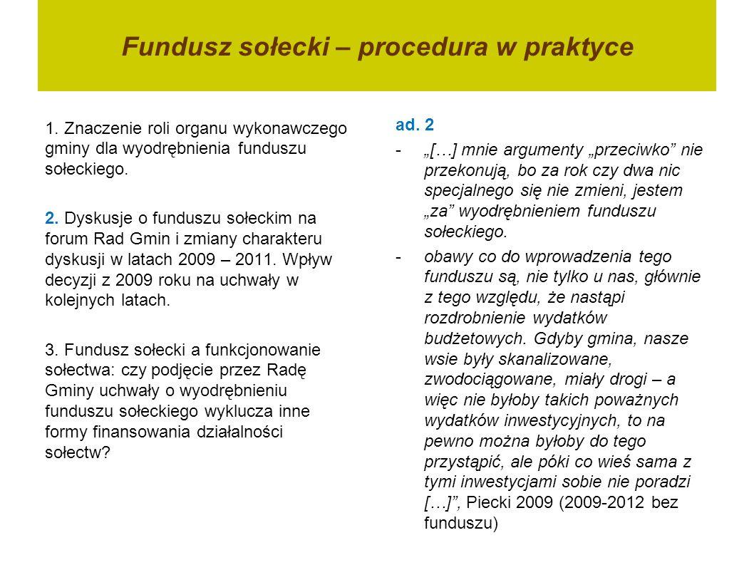 www.funduszesoleckie.pl Fundusz sołecki – co się udało, a co stanowi wyzwanie.