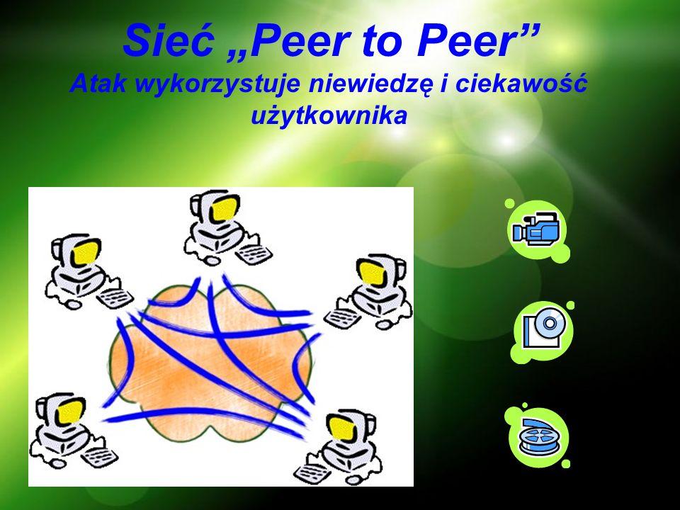 Sieć Peer to Peer Atak wykorzystuje niewiedzę i ciekawość użytkownika