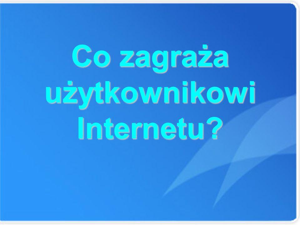 Co zagraża użytkownikowi Internetu?