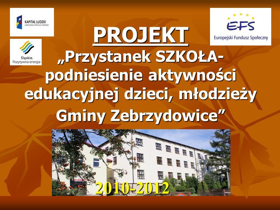 PROJEKT Przystanek SZKOŁA- podniesienie aktywności edukacyjnej dzieci, młodzieży Gminy Zebrzydowice 2010-2012