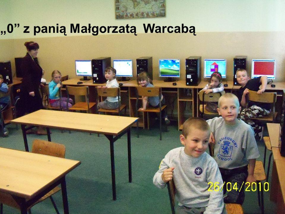 0 z panią Małgorzatą Warcabą