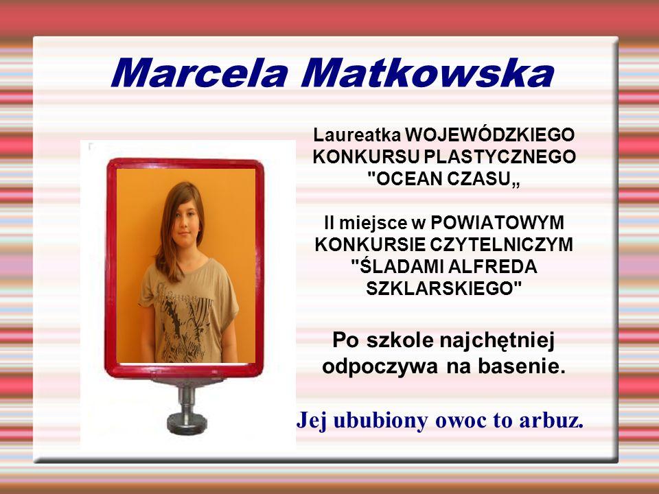 Marcela Matkowska Laureatka WOJEWÓDZKIEGO KONKURSU PLASTYCZNEGO