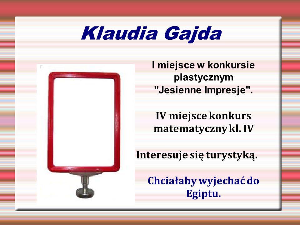 Klaudia Gajda I miejsce w konkursie plastycznym