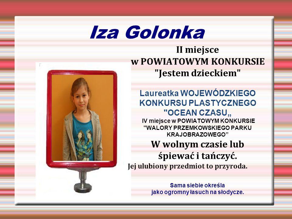 Iza Golonka II miejsce w POWIATOWYM KONKURSIE