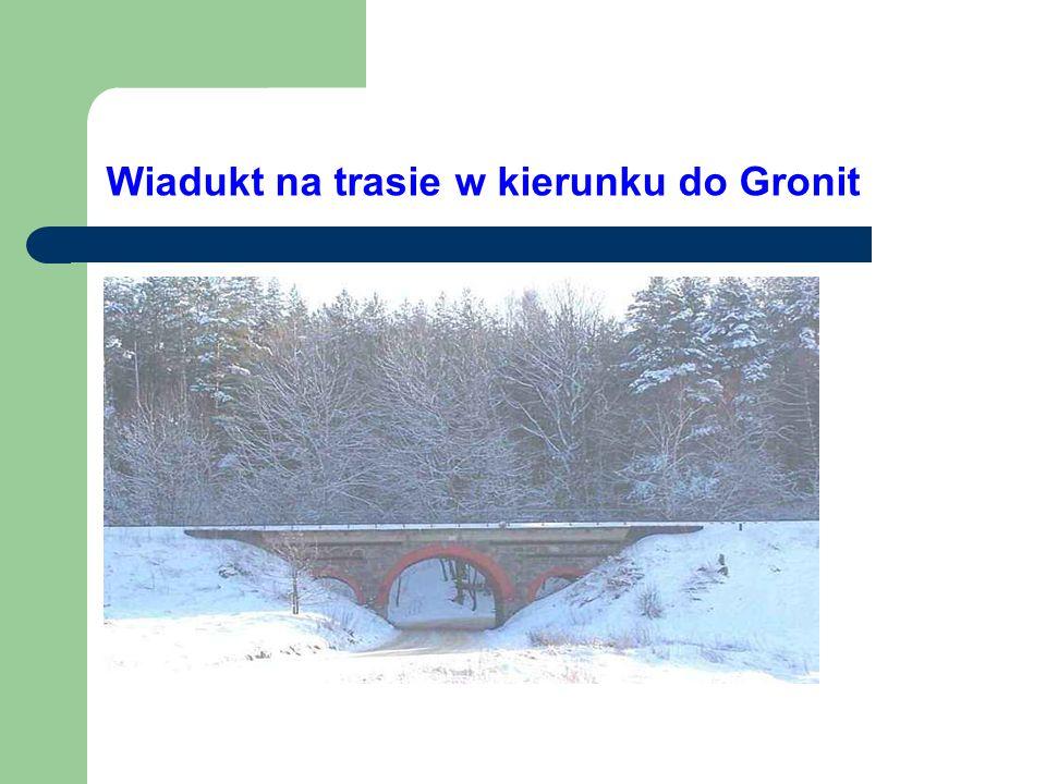 Wiadukt na trasie w kierunku do Gronit