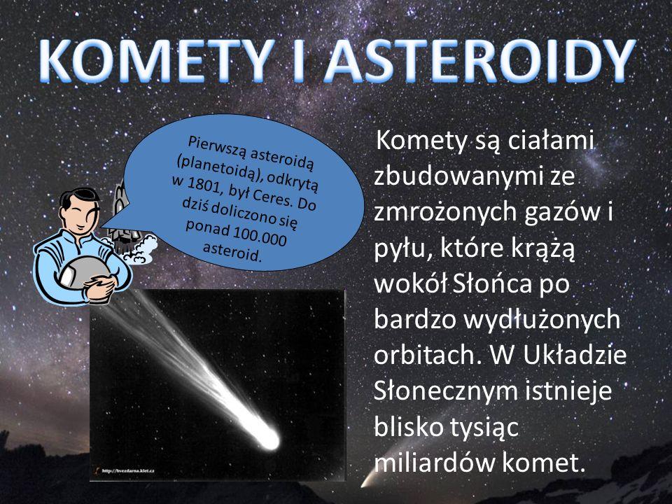 Komety są ciałami zbudowanymi ze zmrożonych gazów i pyłu, które krążą wokół Słońca po bardzo wydłużonych orbitach. W Układzie Słonecznym istnieje blis