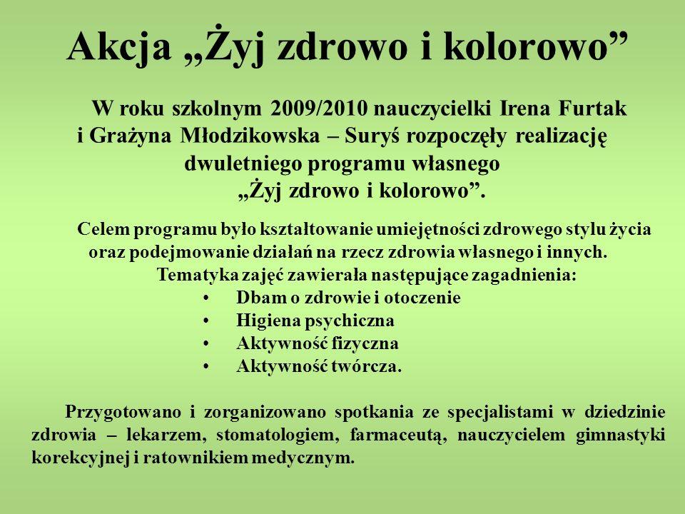 Nasza Szkoła otrzymała tytuł: Szkoła przyjazna dziecku z cukrzycą 14 listopada 2008 roku byliśmy współorganizatorami z Polskim Stowarzyszeniem Diabetyków /Oddział Wojewódzki w Lublinie/ Światowego dnia walki z cukrzycą