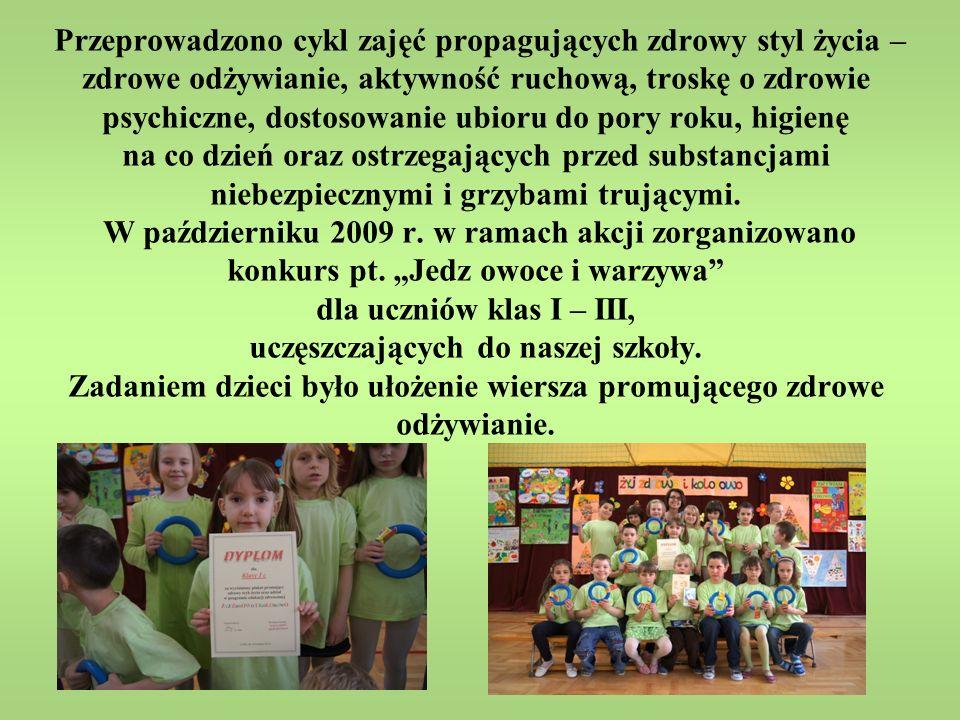 W roku 2010/2011 zorganizowane zostały konkursy plastyczne.