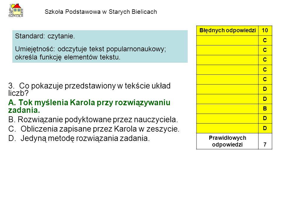 Szkoła Podstawowa w Starych Bielicach 12.Początek wiersza mówi, że sum w Wiśle A.