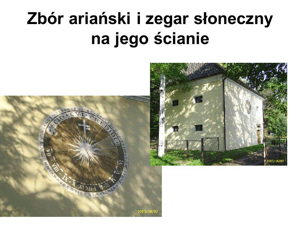 Zbór ariański i zegar słoneczny na jego ścianie