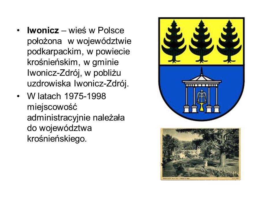 Iwonicz – wieś w Polsce położona w województwie podkarpackim, w powiecie krośnieńskim, w gminie Iwonicz-Zdrój, w pobliżu uzdrowiska Iwonicz-Zdrój. W l