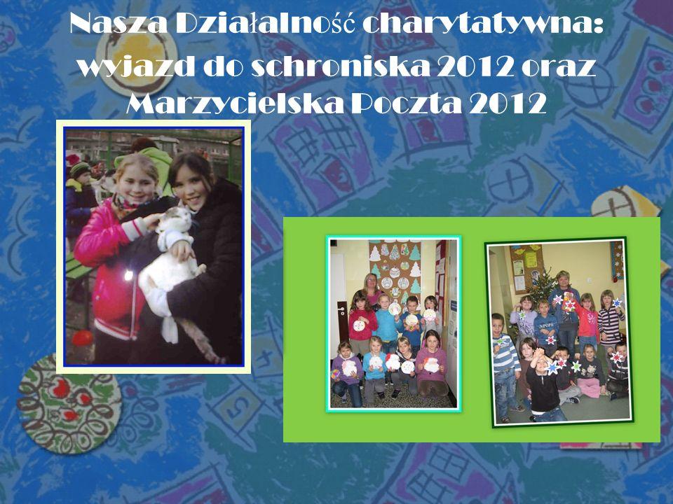 Nasza Dzia ł alno ść charytatywna: wyjazd do schroniska 2012 oraz Marzycielska Poczta 2012