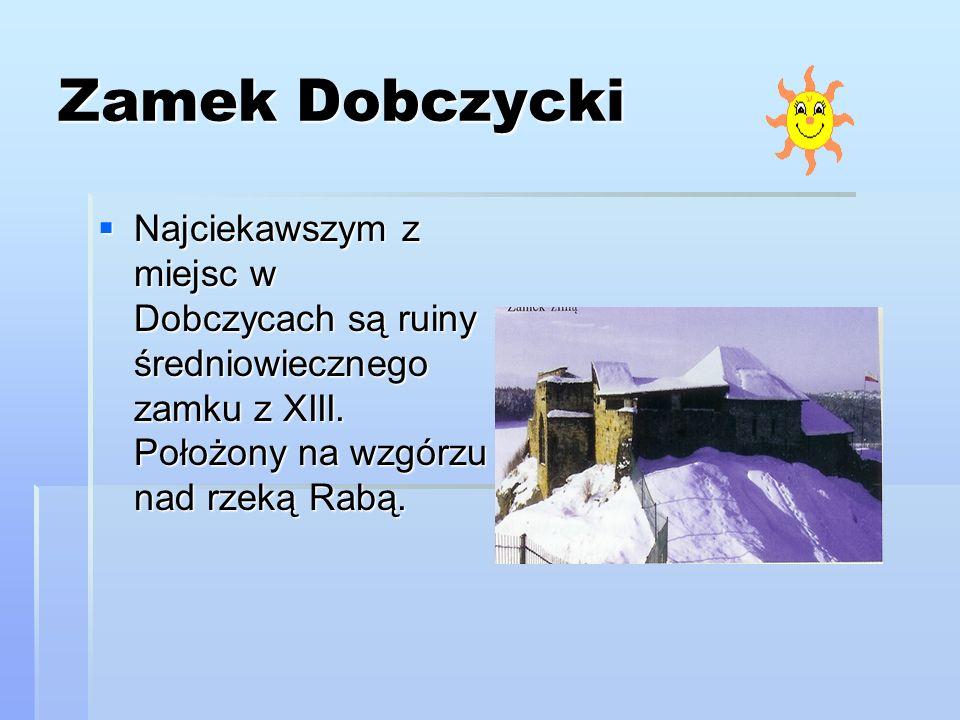 Zabytki Nieopodal zamku w Starym Mieście znajduje się Skansen budownictwa ludowego z okolic Dobczyc i Myślenic, będący częścią Muzeum Regionalnego.W tworzonym w latach 1968-88 skansenie znajdują się trzy zabytkowe budynki drewniane: kurnik, karczma i spichlerz zbożowy.