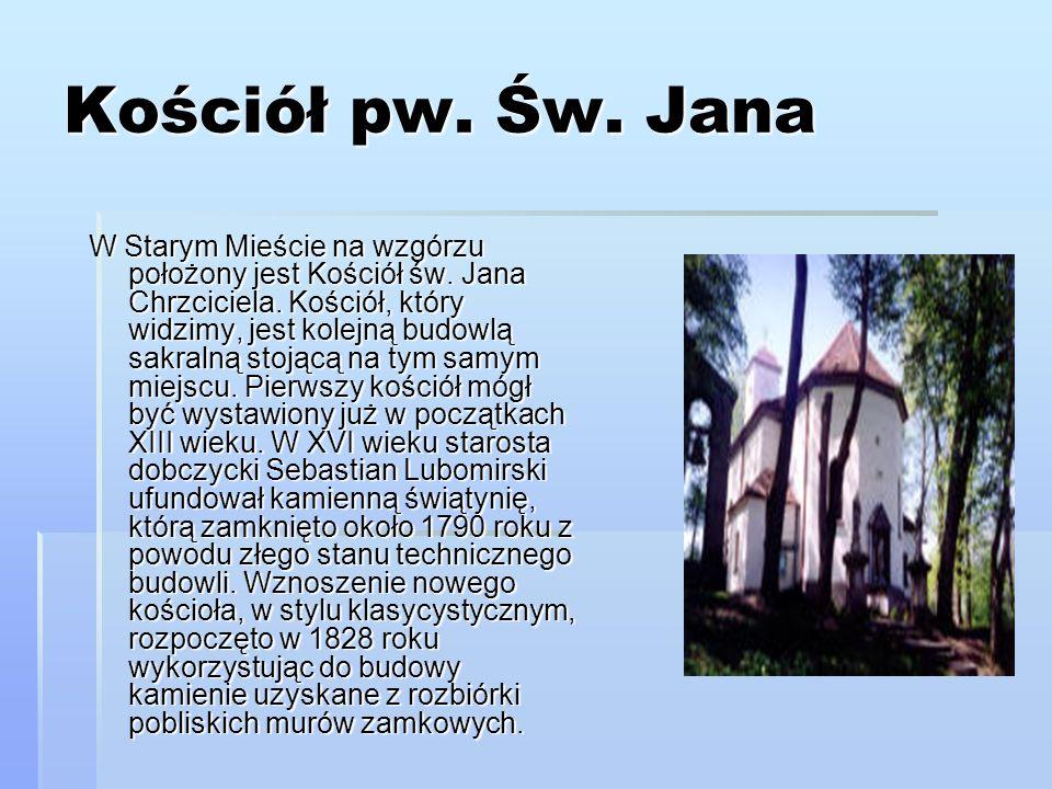 Dzwonnica Ten gotycki dzwon o średnicy 105 cm, odlany w czasach Kazimierza Jagiellończyka jako jedyny przetrwał czasy II Wojny Światowej.