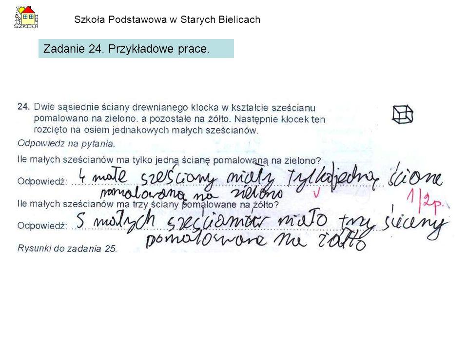 Szkoła Podstawowa w Starych Bielicach Zadanie 24. Przykładowe prace.