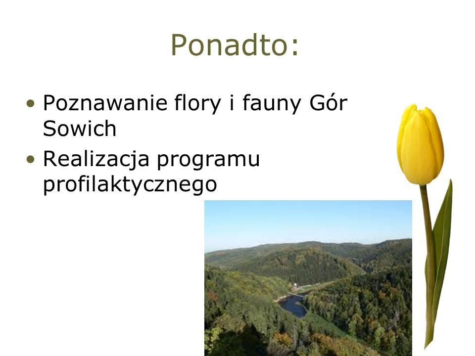 Ponadto: Poznawanie flory i fauny Gór Sowich Realizacja programu profilaktycznego