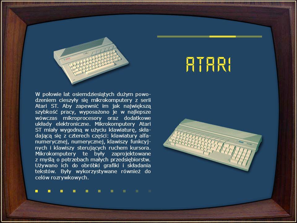 Pod koniec lat osiemdziesiątych bardzo zna- nym i popularnym mikrokomputerem była Amiga, używana przez niektórych do dnia dzisiejszego.