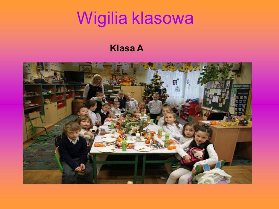 Wigilia klasowa Klasa A