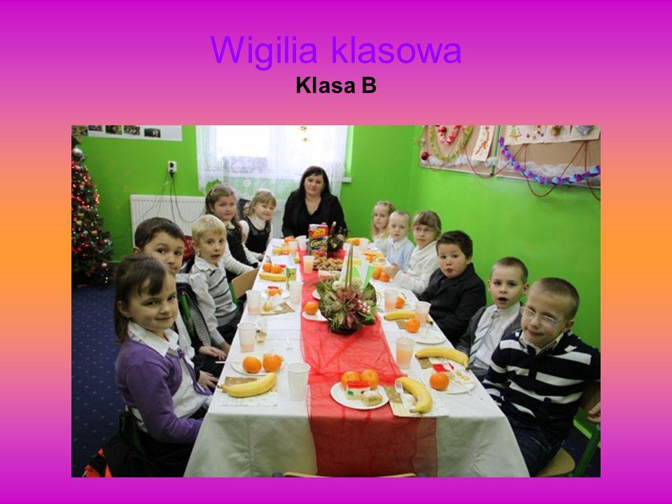 Wigilia klasowa Klasa B