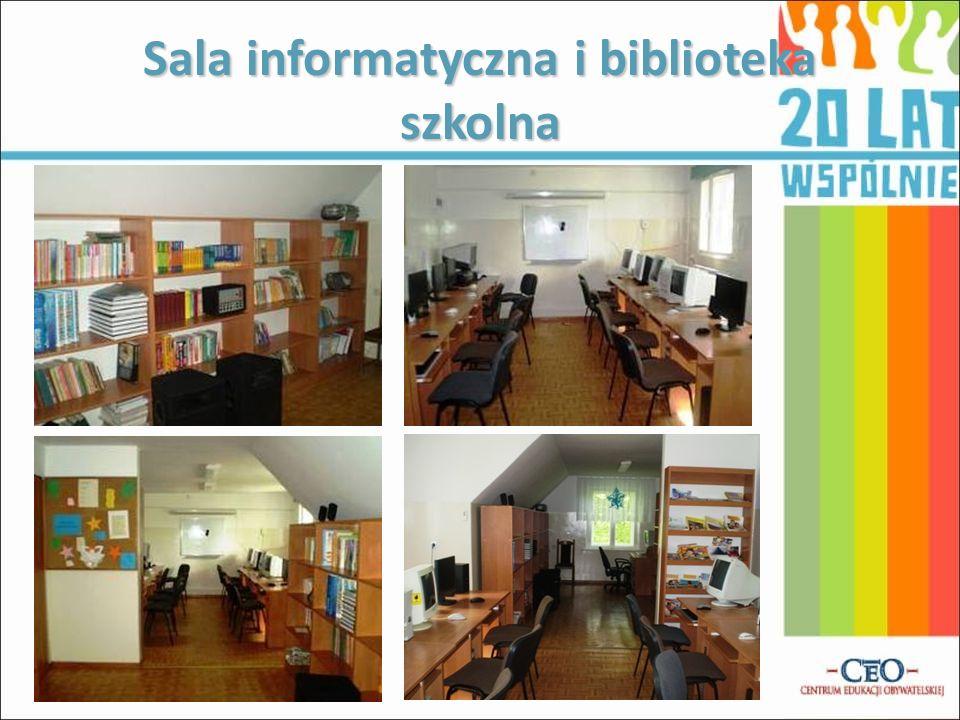 Sala informatyczna i biblioteka szkolna