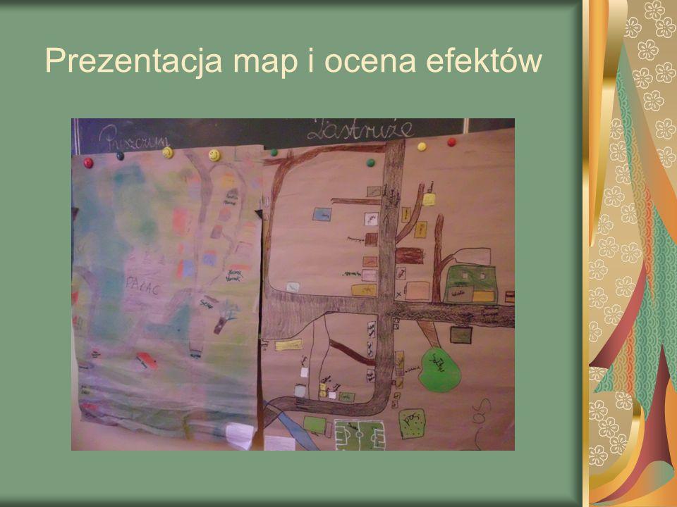 Prezentacja map i ocena efektów