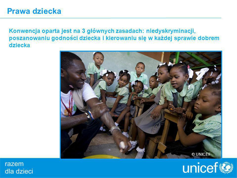 Prawa dziecka Konwencja oparta jest na 3 głównych zasadach: niedyskryminacji, poszanowaniu godności dziecka i kierowaniu się w każdej sprawie dobrem d