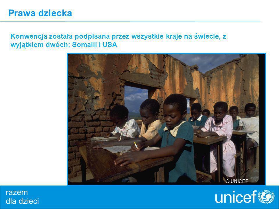 Prawa dziecka Konwencja została podpisana przez wszystkie kraje na świecie, z wyjątkiem dwóch: Somalii i USA © UNICEF