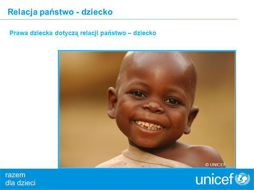 Relacja państwo - dziecko Prawa dziecka dotyczą relacji państwo – dziecko © UNICEF