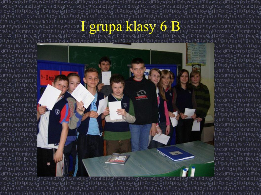 I grupa klasy 6 B