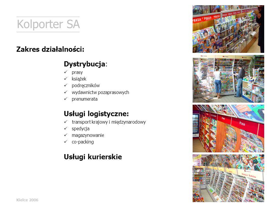 Dystrybucja: prasy książek podręczników wydawnictw pozaprasowych prenumerata Usługi logistyczne: transport krajowy i międzynarodowy spedycja magazynow